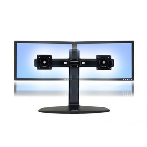 Soporte doble ergotron de mesa para dos monitores o tv for Soporte monitor mesa