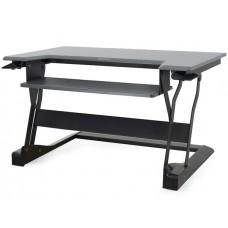 WorkFit-T Estación de trabajo para escritorio de pie o sentado (negro)