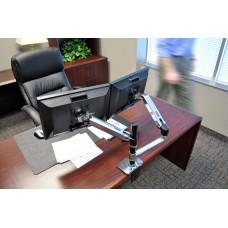 Brazo para monitor de escritorio o mesa LX Doble