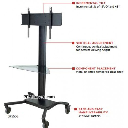 Pedestal con ruedas de piso para pantallas tv 32 a 60 pulgadas - Soporte con ruedas para tv ...